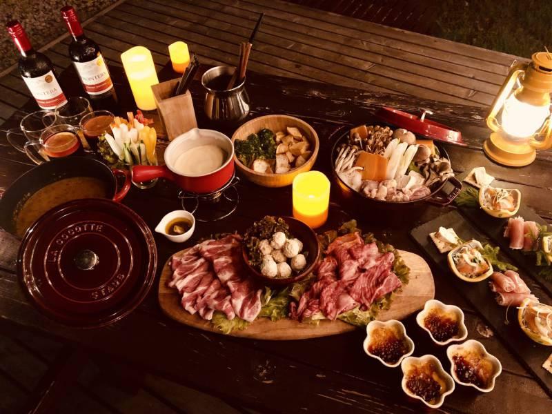 女子キャンプ食事(有料:オプション)