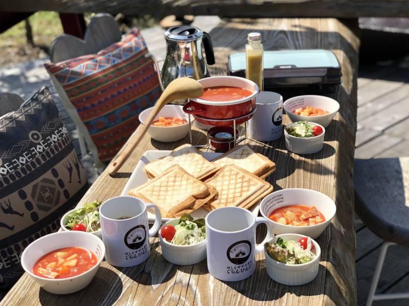 女子キャンプ朝食(有料:オプション)